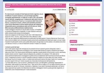 8 marzo – festa della donna: un trattamento per la menopausa gratuito per tutte le donne