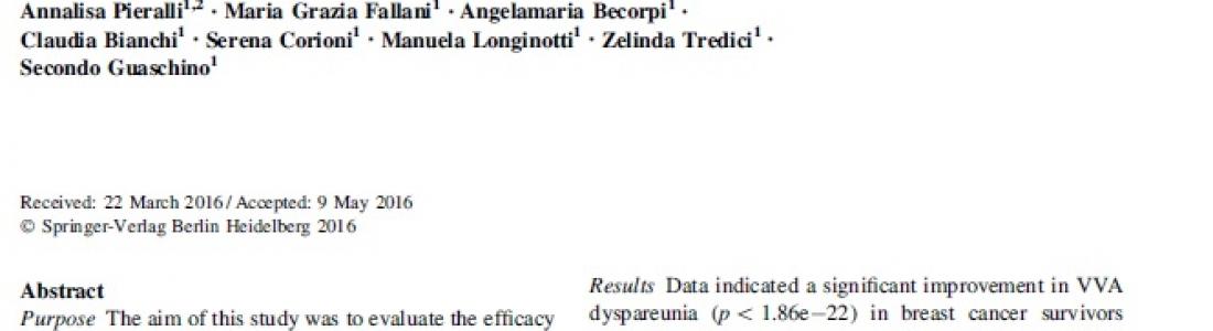 Nuova Pubblicazione Scientifica su MonnaLisa Touch