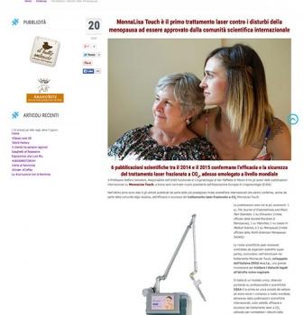 MonnaLisa Touch è il primo trattamento laser contro i disturbi della menopausa ad essere approvato dalla comunità scientifica internazionale