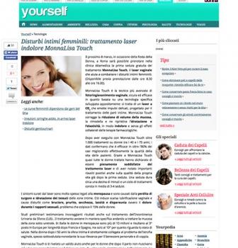 Disturbi intimi femminili: il trattamento laser indolore MonnaLisa Touch